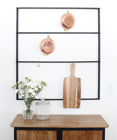 Kitchen Storage Rack Tutorial