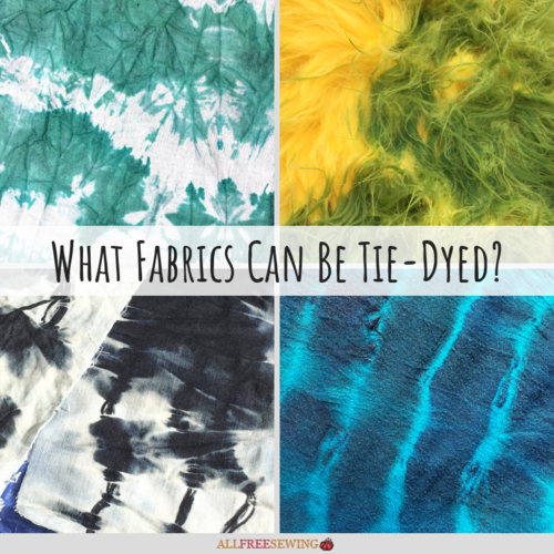 What Fabrics Can Be Tie-Dyed