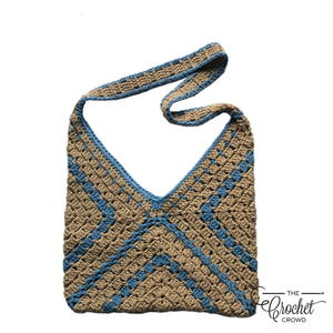 Modern Granny Square Tote Bag Crochet Pattern