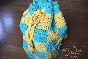 Drawstring Beach Bag Crochet Pattern