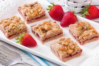 Sensational Strawberry Squares