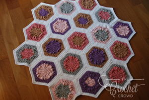 Springtime Hexagon Blanket Crochet Pattern
