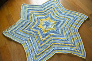 Little Superstar Crochet Baby Mat Pattern