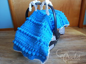 Textured Crochet Baby Carrier Canopy Pattern