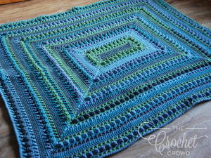 Popcorn Stitch Intermediate Crochet Lapghan Pattern