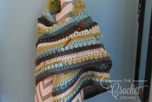 Springtime Bobble Stitch Crochet Shawl Pattern