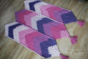 3 Panel Crochet Baby Girl Afghan Pattern