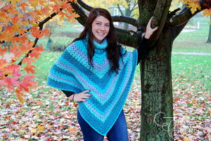 Cozy Turtleneck Winter Crochet Poncho