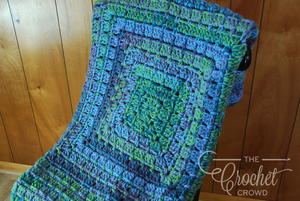 Modern Granny Crochet Weighted Blanket