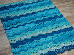 Water Waves Easy Crochet Baby Blanket
