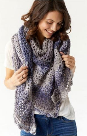 Oversized Crochet Scarf Wrap
