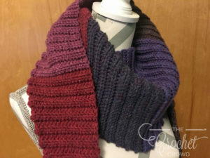 Ribbed Winter Crochet Scarf Pattern