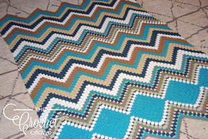 How to Crochet a Chevron Afghan