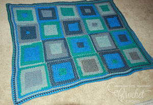 Cool Squares Modern Granny Crochet Afghan