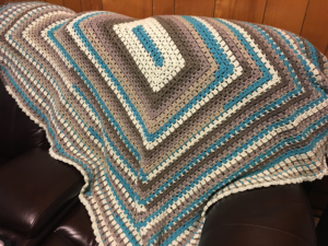 Brick Stitch Country Vibes Crochet Afghan