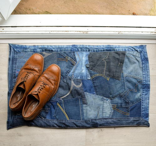 DIY Denim Doormat
