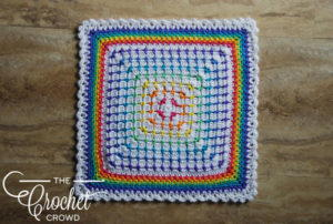Decorative Crochet Rainbow Mat