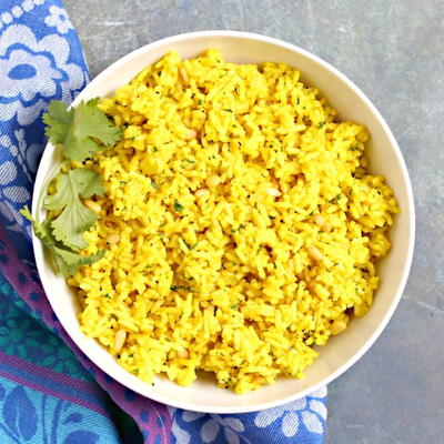 Mediterranean Yellow Rice
