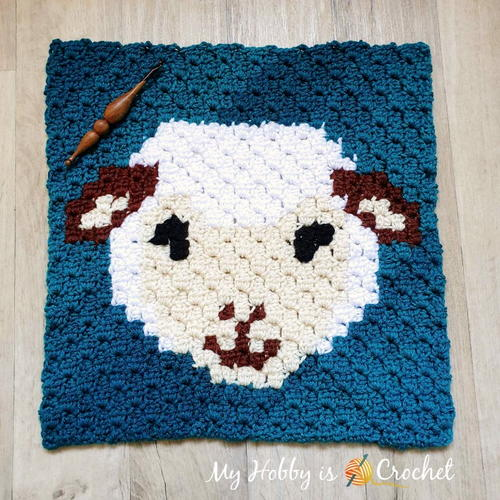 Woolly Sheep C2C Square