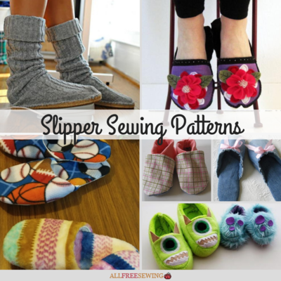 picture regarding Free Printable Fleece Sock Pattern named 15+ Slipper Sewing Styles (in the direction of Preserve On your own Heat