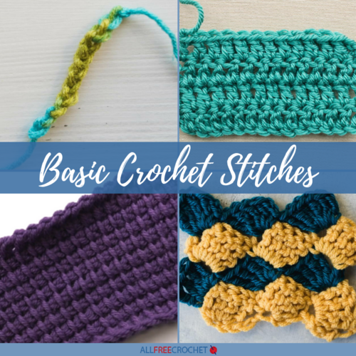 20 Basic Crochet Stitches Video Tutorials Allfreecrochetcom