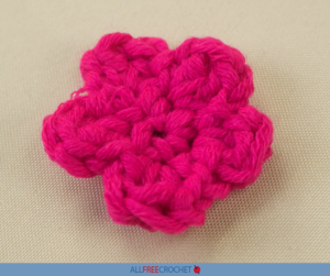 How to Crochet a Five Petal Flower for Beginners
