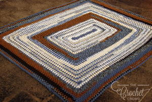 Warm Countryside Crochet Throw