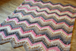 Bobble Stitch Easy Crochet Baby Blanket