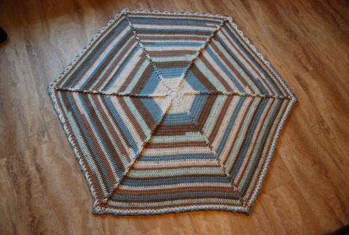 Large Hexagon Crochet Baby Blanket   AllFreeCrochet com