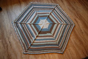 Large Hexagon Crochet Baby Blanket