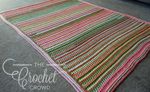 Post Double Stitch Crochet Spring Blanket