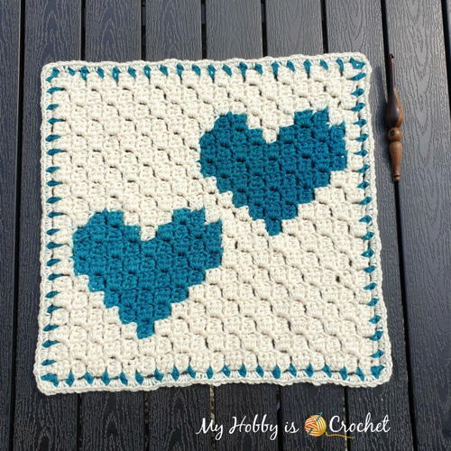 """Two Hearts that beat as One"" C2C Square"