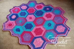 Girl's Crochet Hexagon Blanket