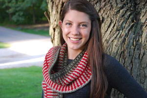 Peppermint Crochet Scarf with Fringe