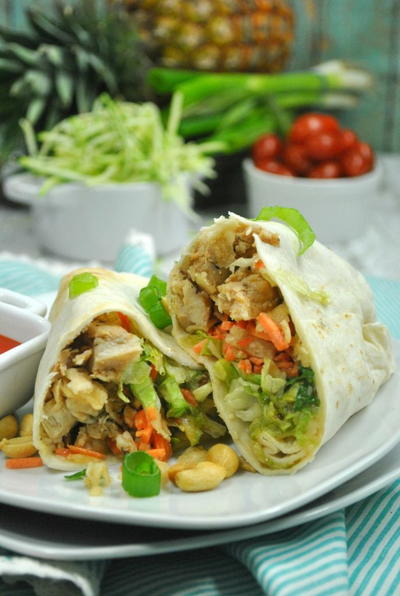 Weight Watchers Thai Chicken Wrap