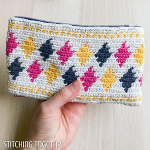 Desert Diamonds Crochet Pouch