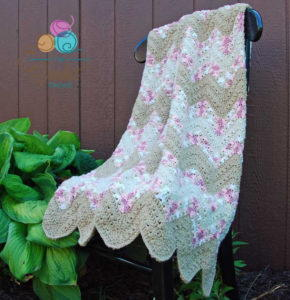 Sweetheart Chevron Crochet Baby Blanket