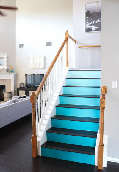 DIY Gradient Staircase