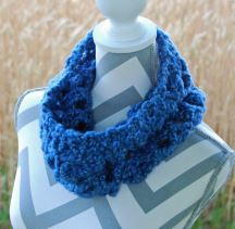 Royal Blue Bulky Crochet Cowl