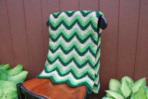 Delightful Mint Crochet Chevron Afghan