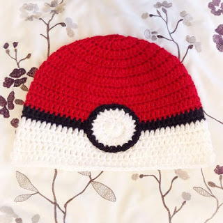 Kids Pokeball-Themed Crochet Beanie Hat