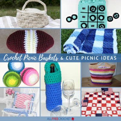 24 Crochet Picnic Baskets and Cute Picnic Ideas