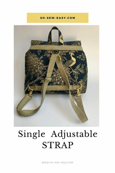 How To Make A Single Adjustable Strap For A Bag