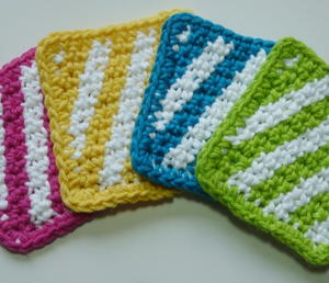 Striped Summer Coasters