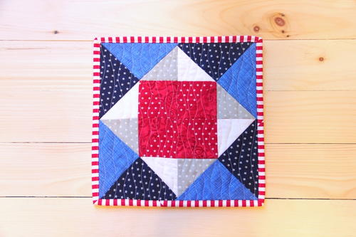 Pinwheel Square Mini Quilt