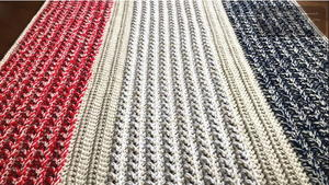 Easy Cross Stitch Crochet Lap Blanket