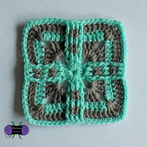 Native Sun Crochet Square
