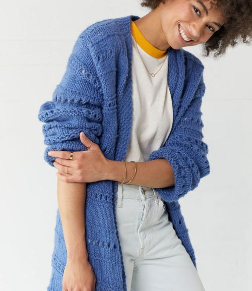 Cornflower Knit Cardigan Pattern
