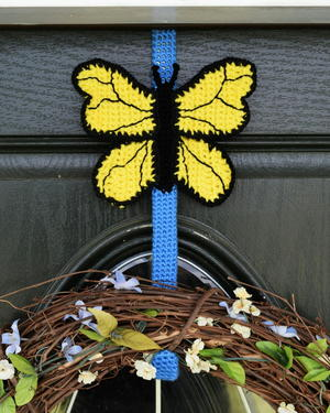 Butterfly Wreath Hanger Cover
