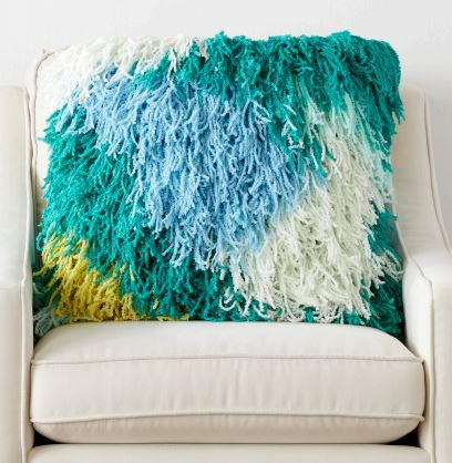 Fluffy Fringe Crochet Pillow Cover Pattern